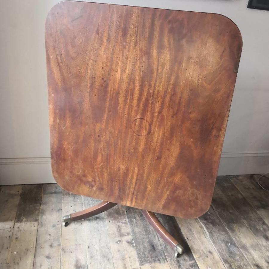 Plain mahogany centre table