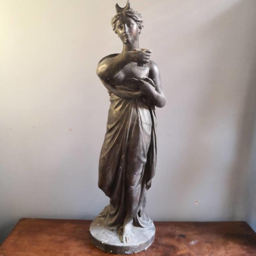 19th century figural lamp in the manner of Humphrey Hopper