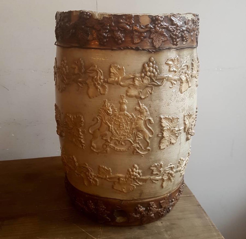 19th century stoneware stick stand