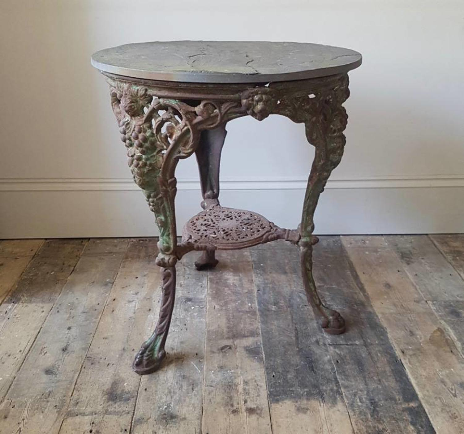 Nineteenth century cast iron table
