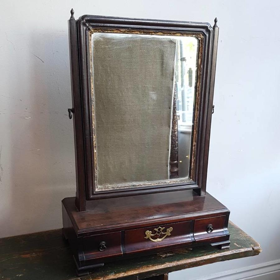A George III toilet mirror
