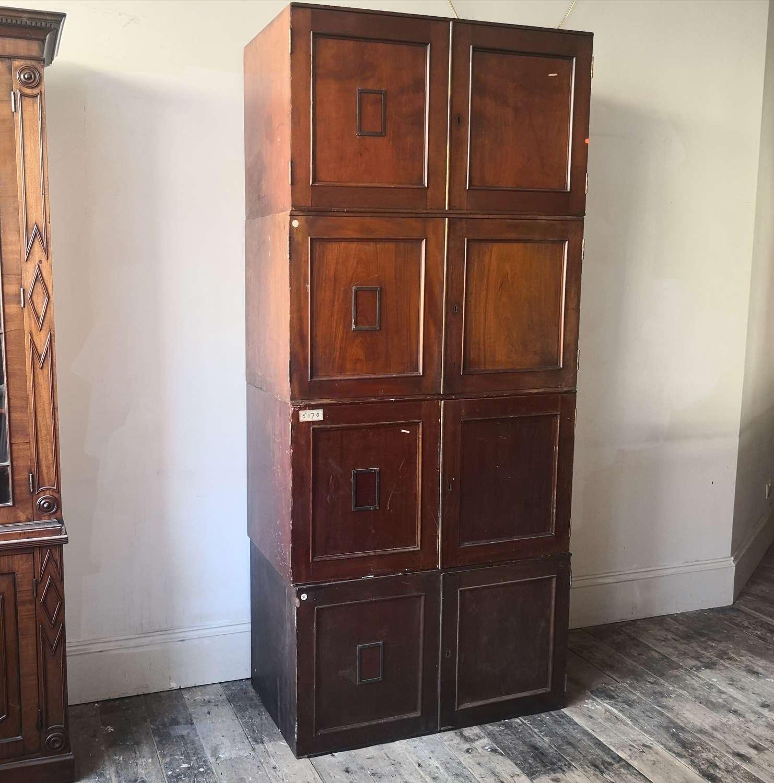 Four 19th century museum specimen cabinets