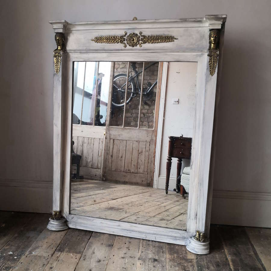 Nineteenth century painted over mantle mirror