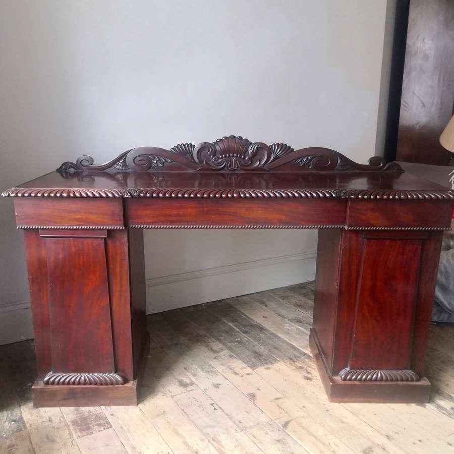 Nineteenth century pedestal sideboard