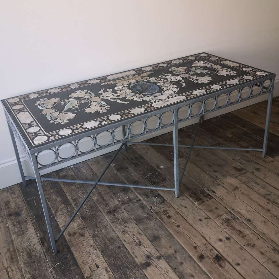19th century Scagliola and slate table