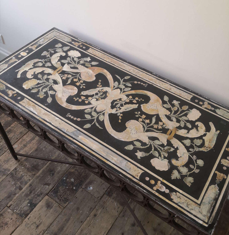 17th/18th century scagliola table