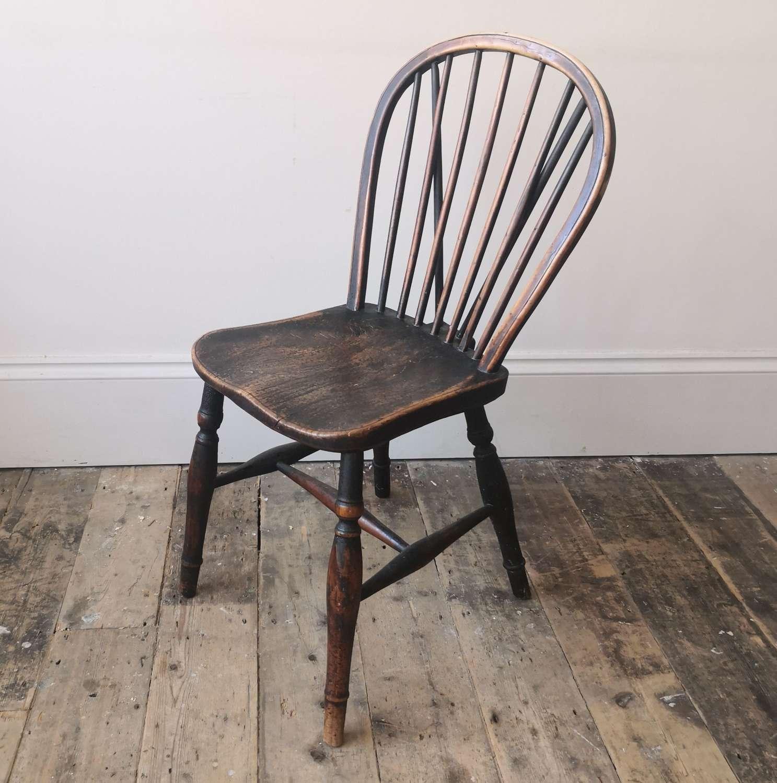 19th century Yew wood windsor chair