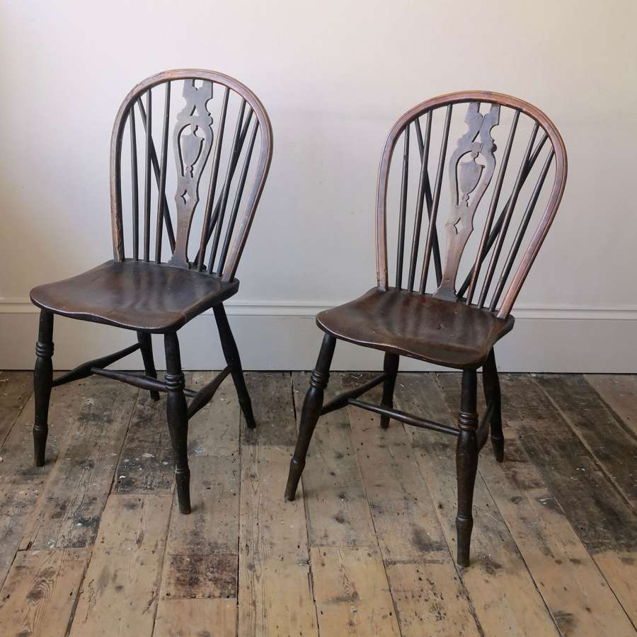 A pair of 19th century Windsor chairs
