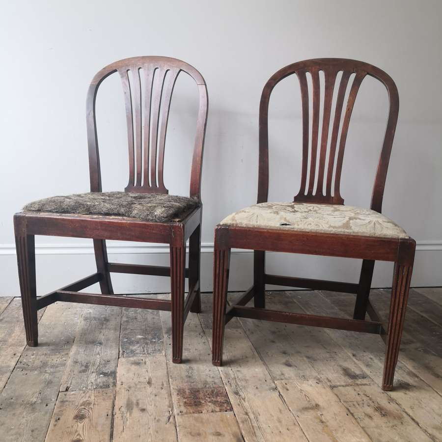 A pair of Gillows chairs