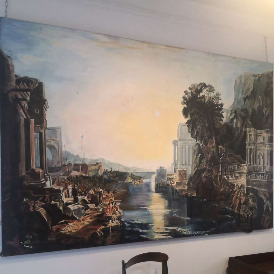 Very large oil on canvas