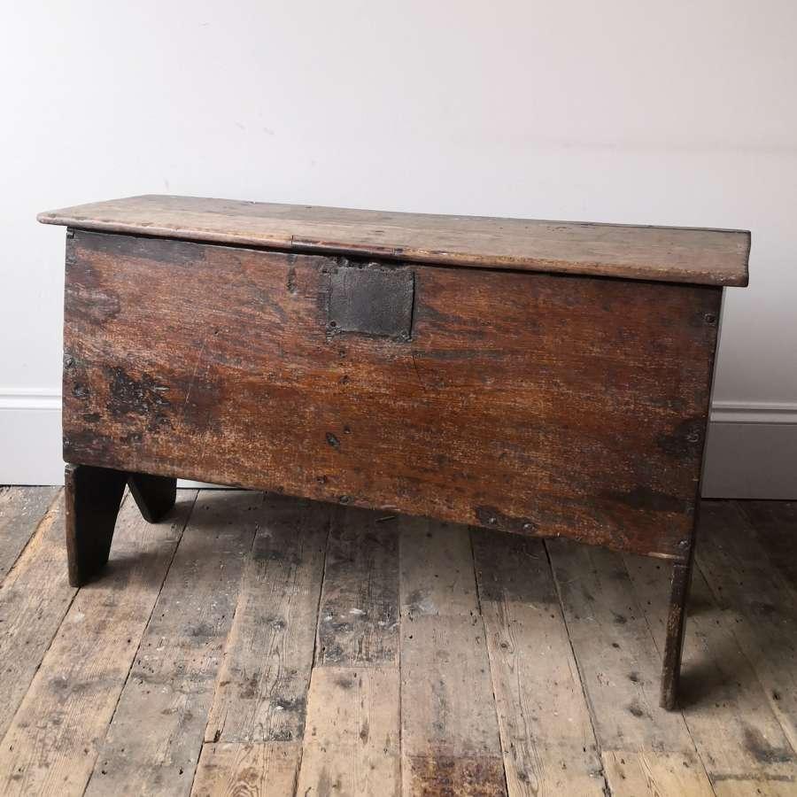 17th century five plank coffer.