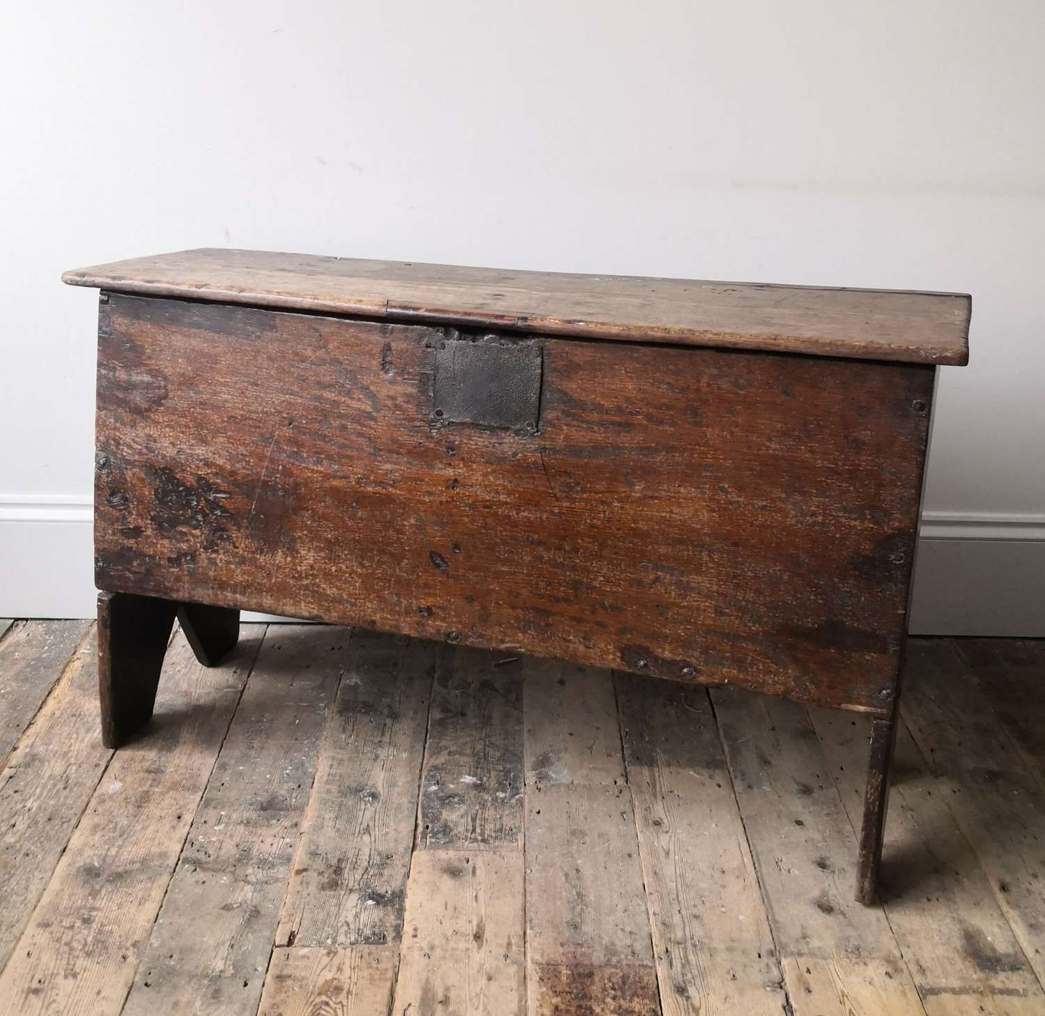 17th century five plank coffer.