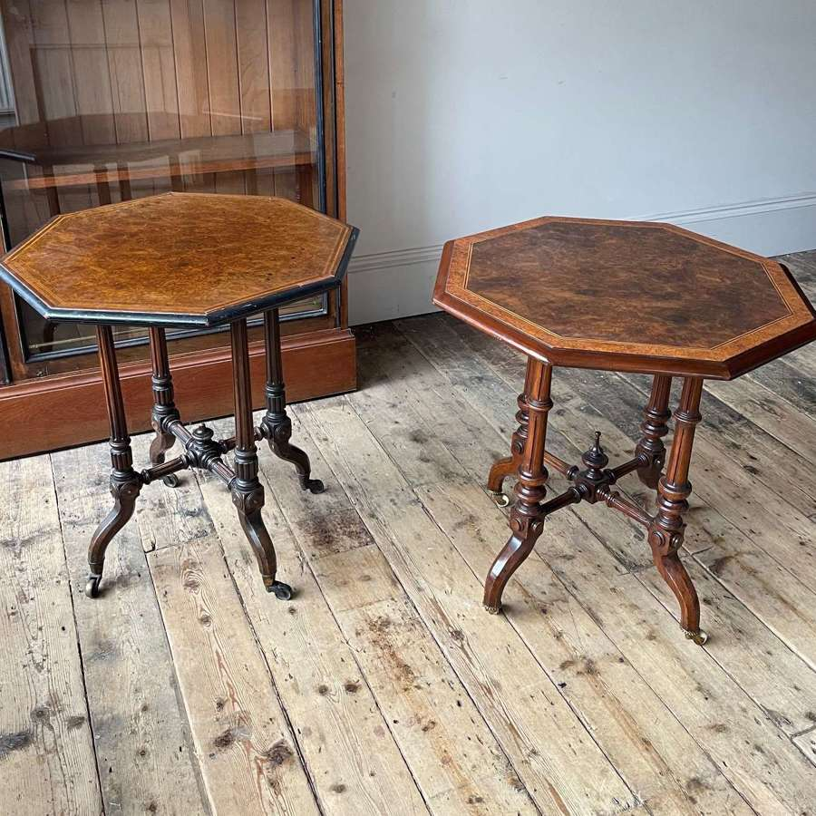 A matched pair of sofa end tables