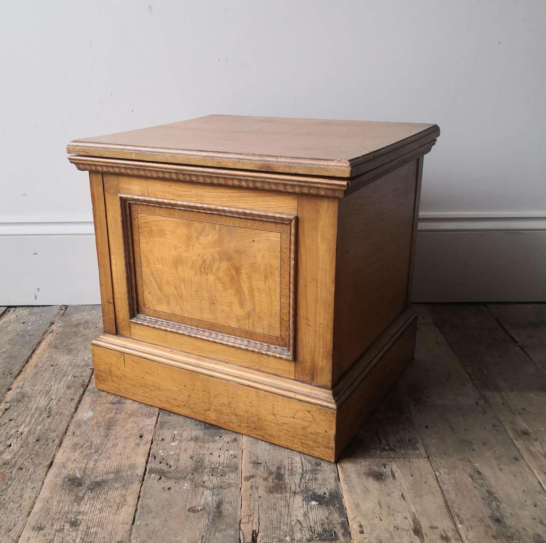 19th century plinth box commode