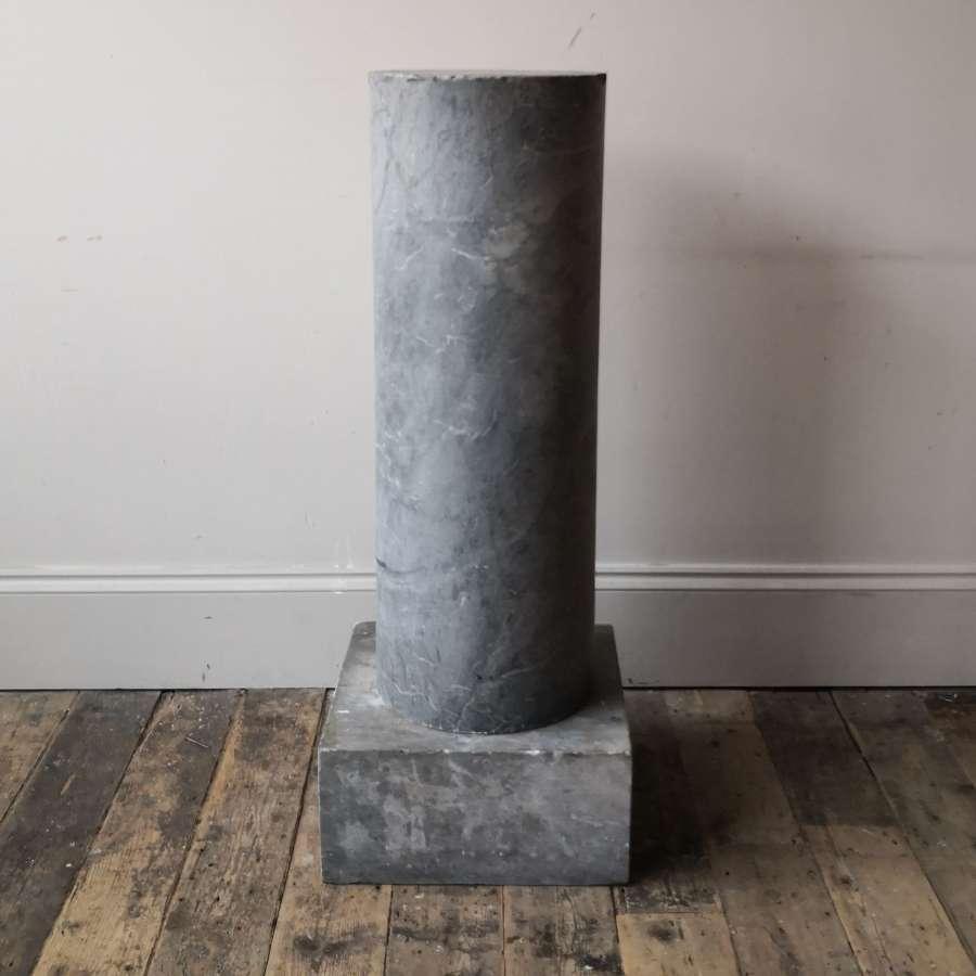 19th century marble pedestal.