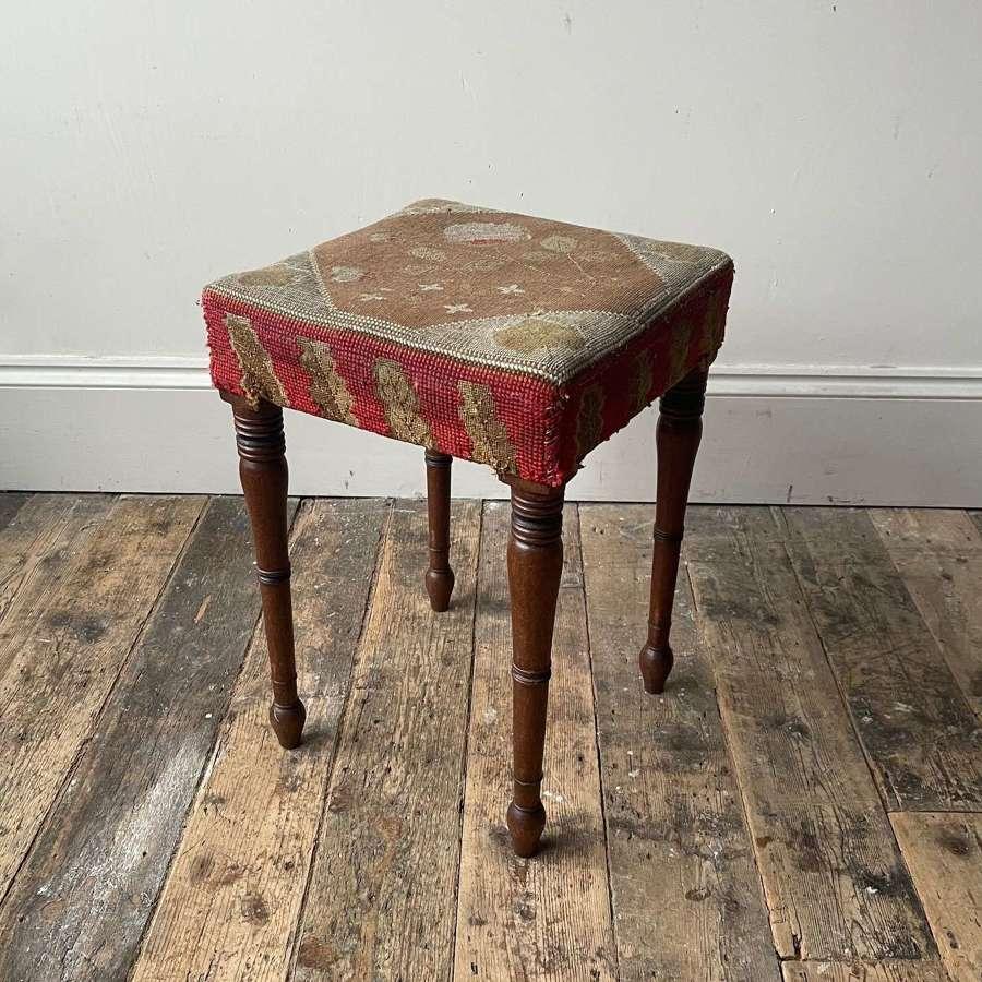Regency wool work stool