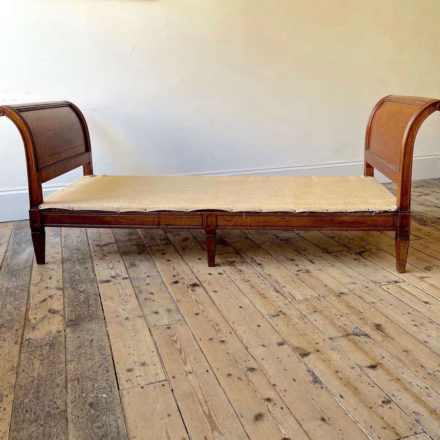 19th century upholstered bench / window seat.