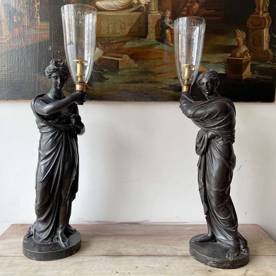 A pair of figural lamps by Hopper.