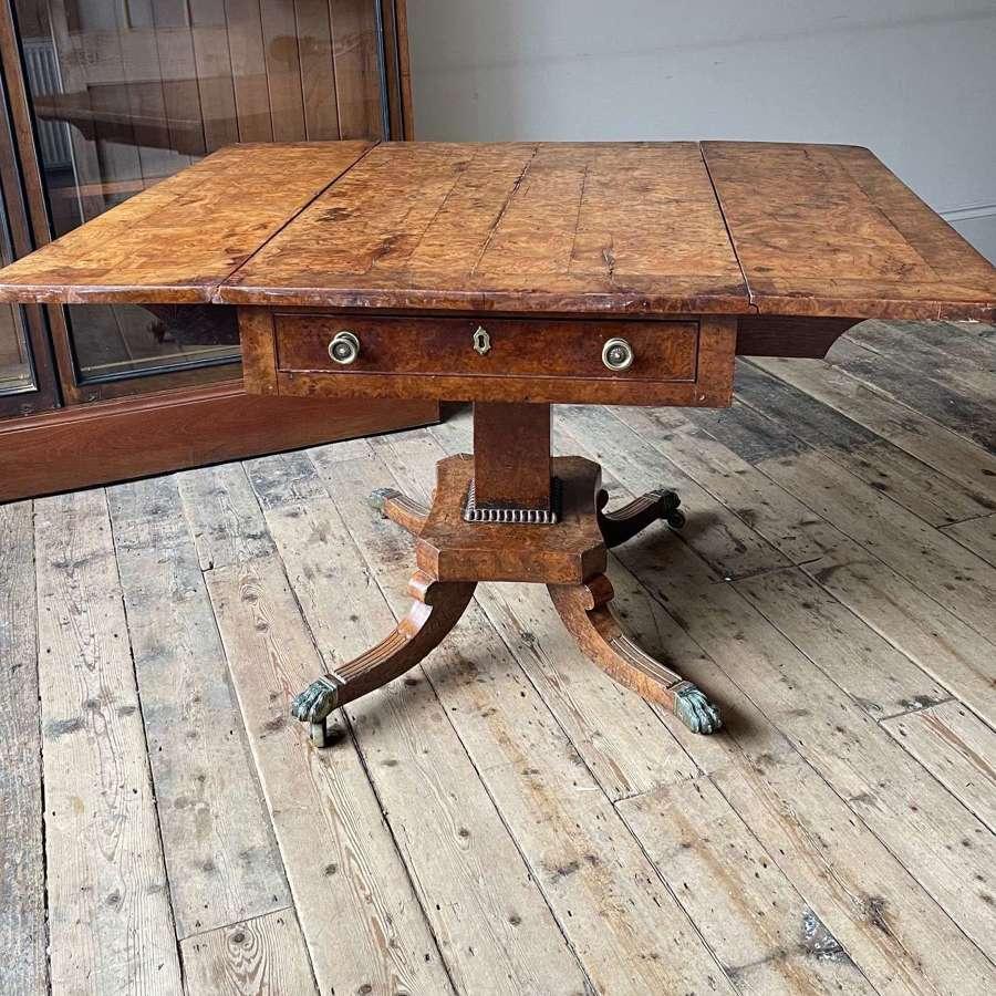 19th century bur elm centre table