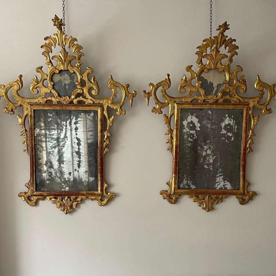 A pair of 18th century Italian mirrors