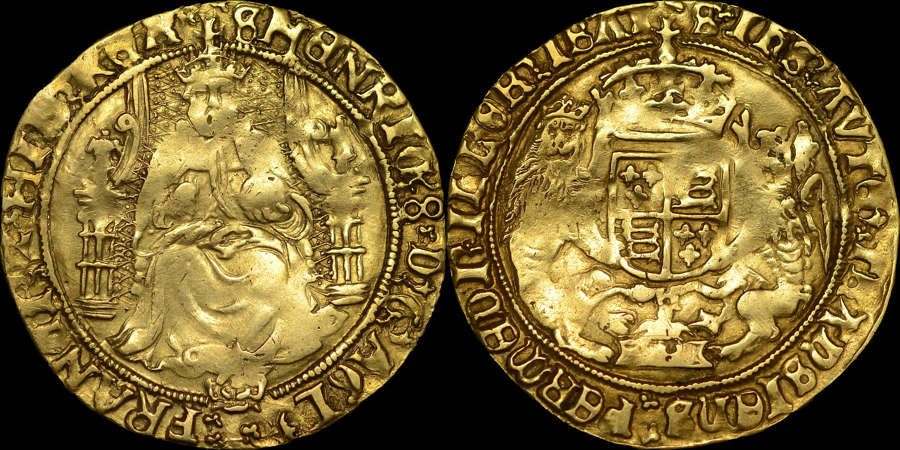 HENRY VIII, GOLD HALF-SOVEREIGN, SOUTHWARK MINT