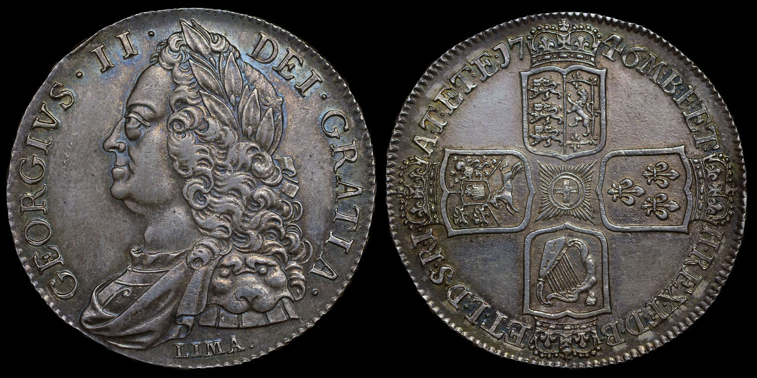 GEORGE II 1746 LIMA CROWN