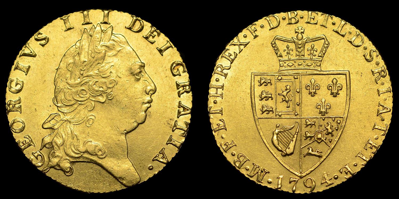 GEORGE III 1794 GOLD GUINEA