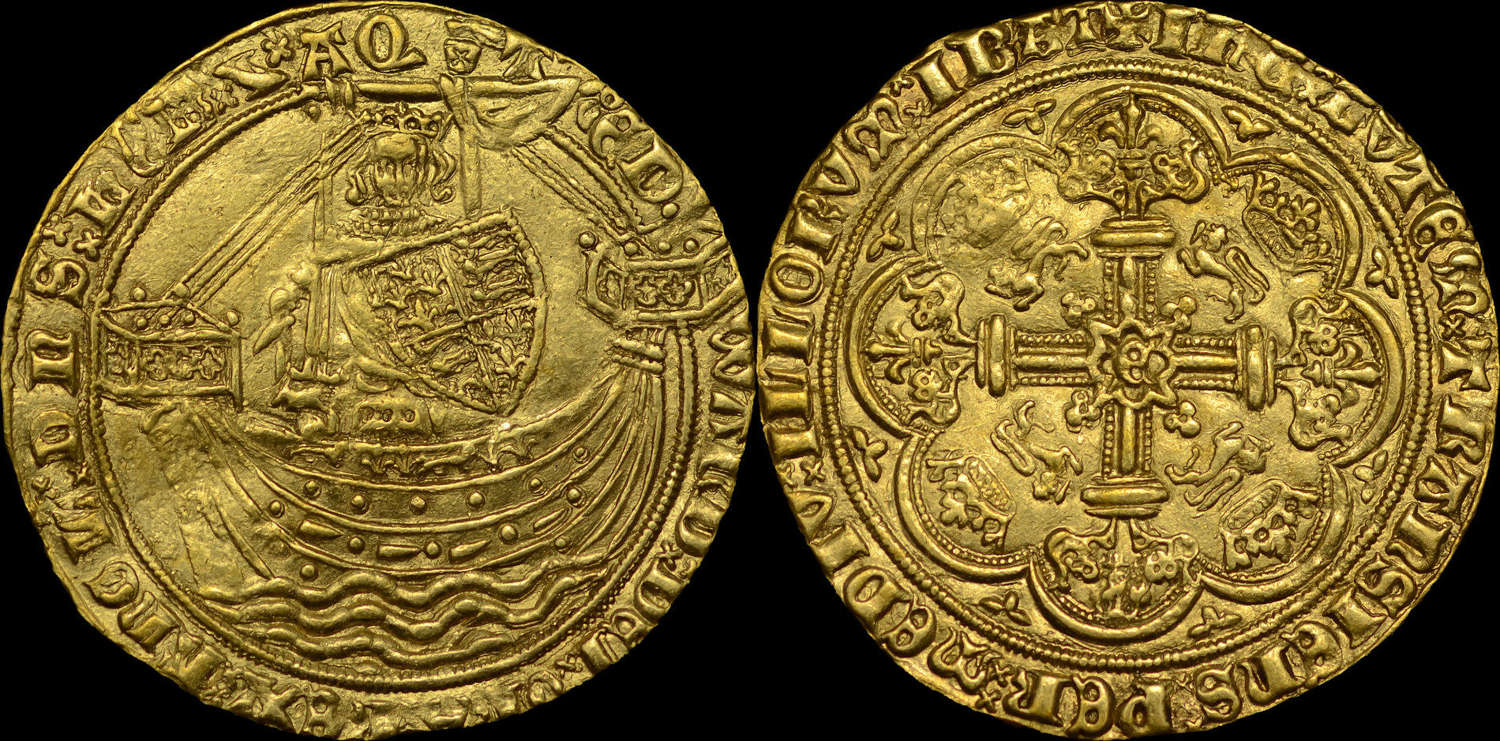 EDWARD III, TREATY PERIOD GOLD NOBLE