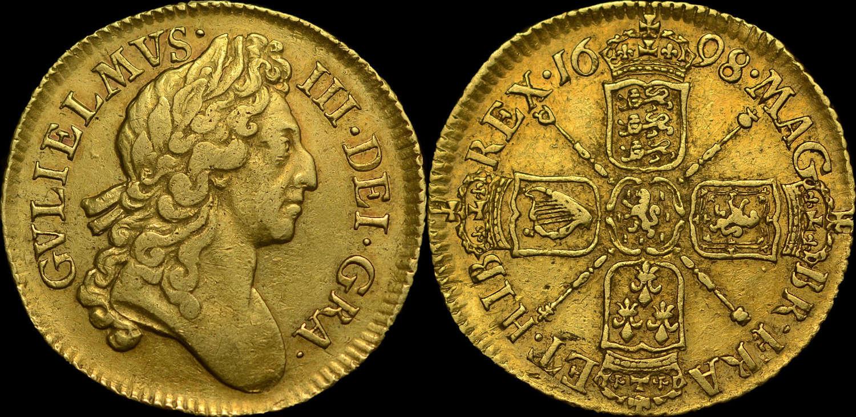 WILLIAM III 1698 GOLD GUINEA