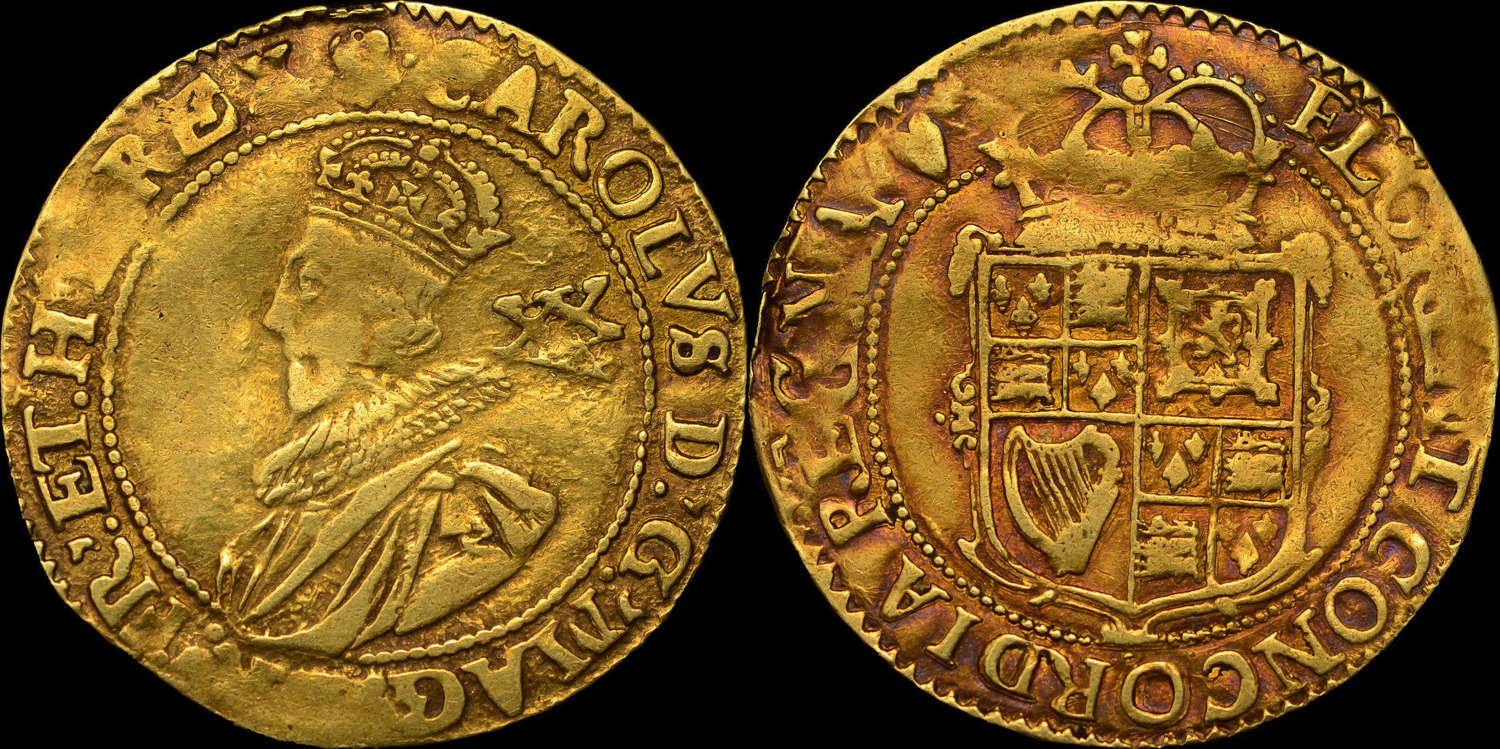 CHARLES I GOLD UNITE, TOWER MINT, GROUP B