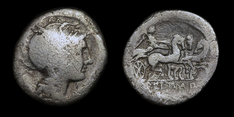 ROMAN REPUBLICAN COINAGE, AP. CLAUDIUS PULCHER, T MALLIUS OR MALOLEIUS
