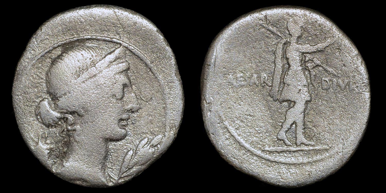 OCTAVIAN SILVER DENARIUS