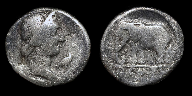 ROMAN REPUBLICAN COINAGE, Q. CAECILIUS METELLUS PIUS, SILVER DENARIUS