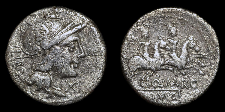 ROMAN REPUBICAN COINAGE, Q MARCIUS LIBO SILVER DENARIUS