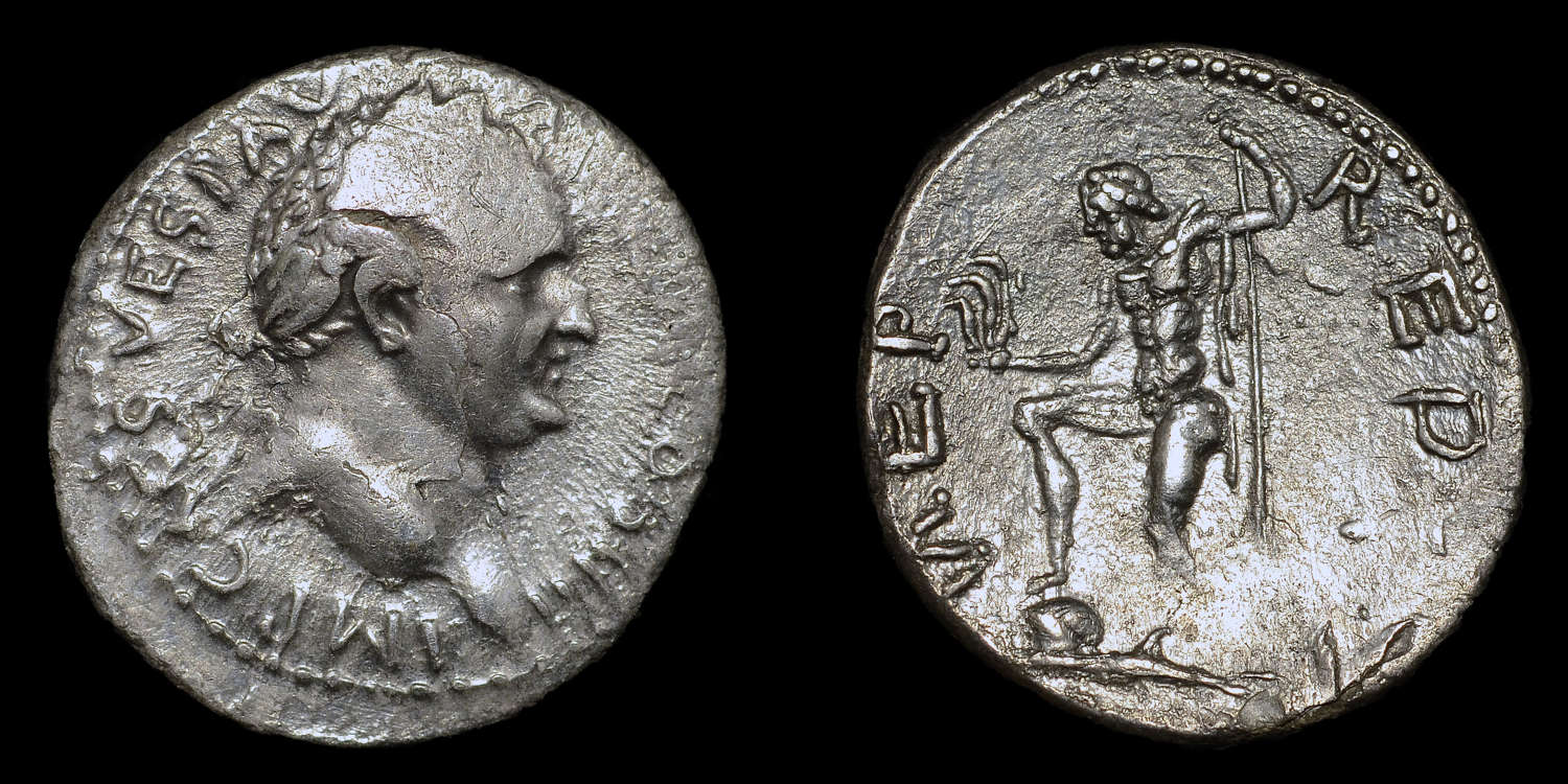 VESPASIAN SILVER DENARIUS OF ANTIOCH