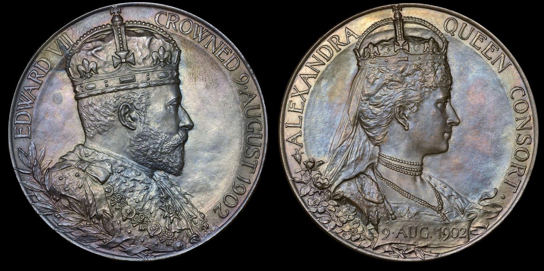 CORONATION OF EDWARD VII, 1902, SILVER LARGE SIZE MEDAL