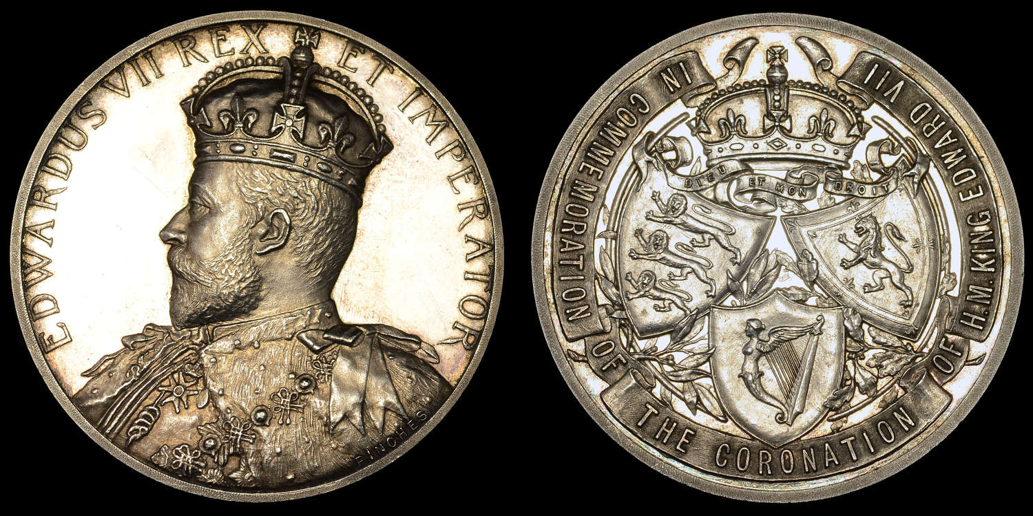 EDWARD VII, 1902 CORONATION MEDAL BY JOHN PINCHES