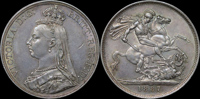 VICTORIA 1887 SILVER CROWN