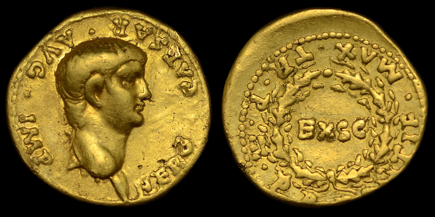 NERO, GOLD AUREUS, MINT OF LUGDUNUM