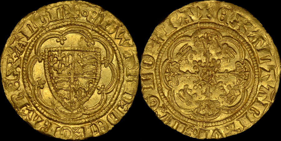 EDWARD III GOLD QUARTER-NOBLE, TREATY PERIOD