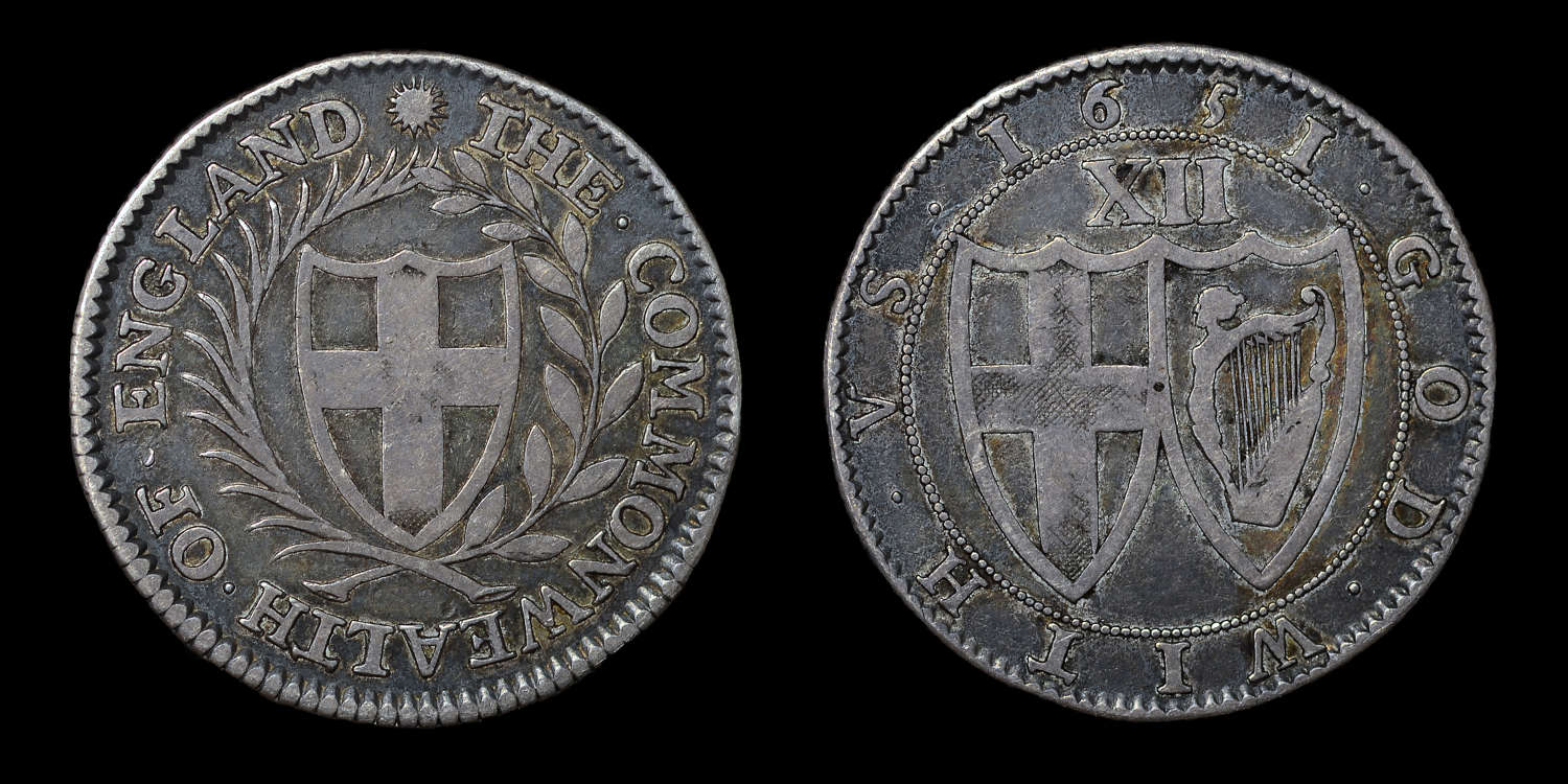 COMMONWEALTH, 1651 BLONDEAU PATTERN SILVER SHILLING