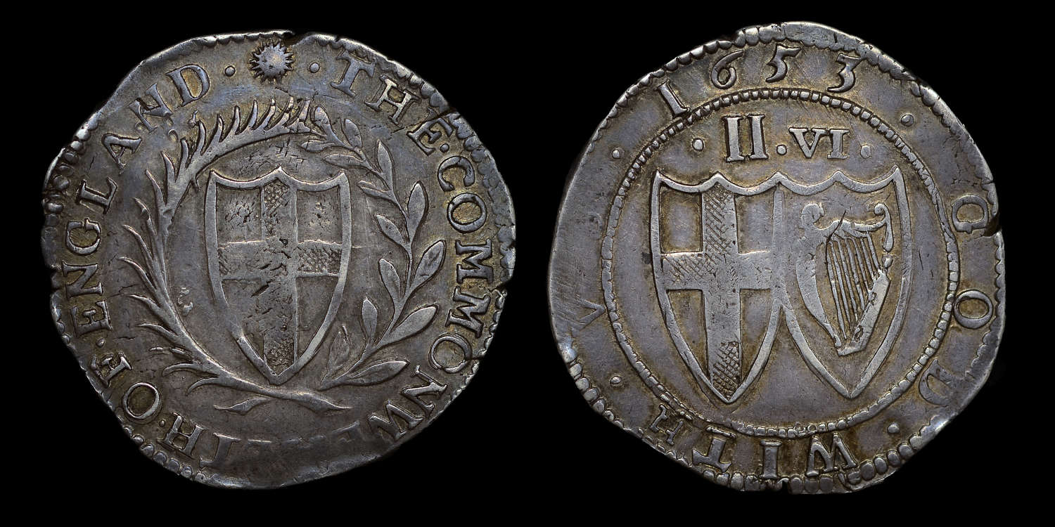 COMMONWEALTH 1653 HALFCROWN