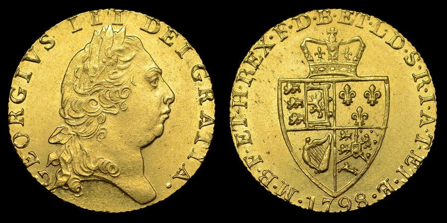 GEORGE III 1798 GOLD GUINEA