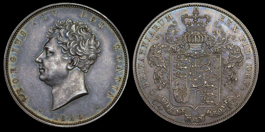 GEORGE  IV, 1826 PROOF HALF-CROWN