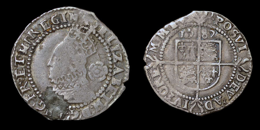 ELIZABETH I, THREEPENCE DATED 1583