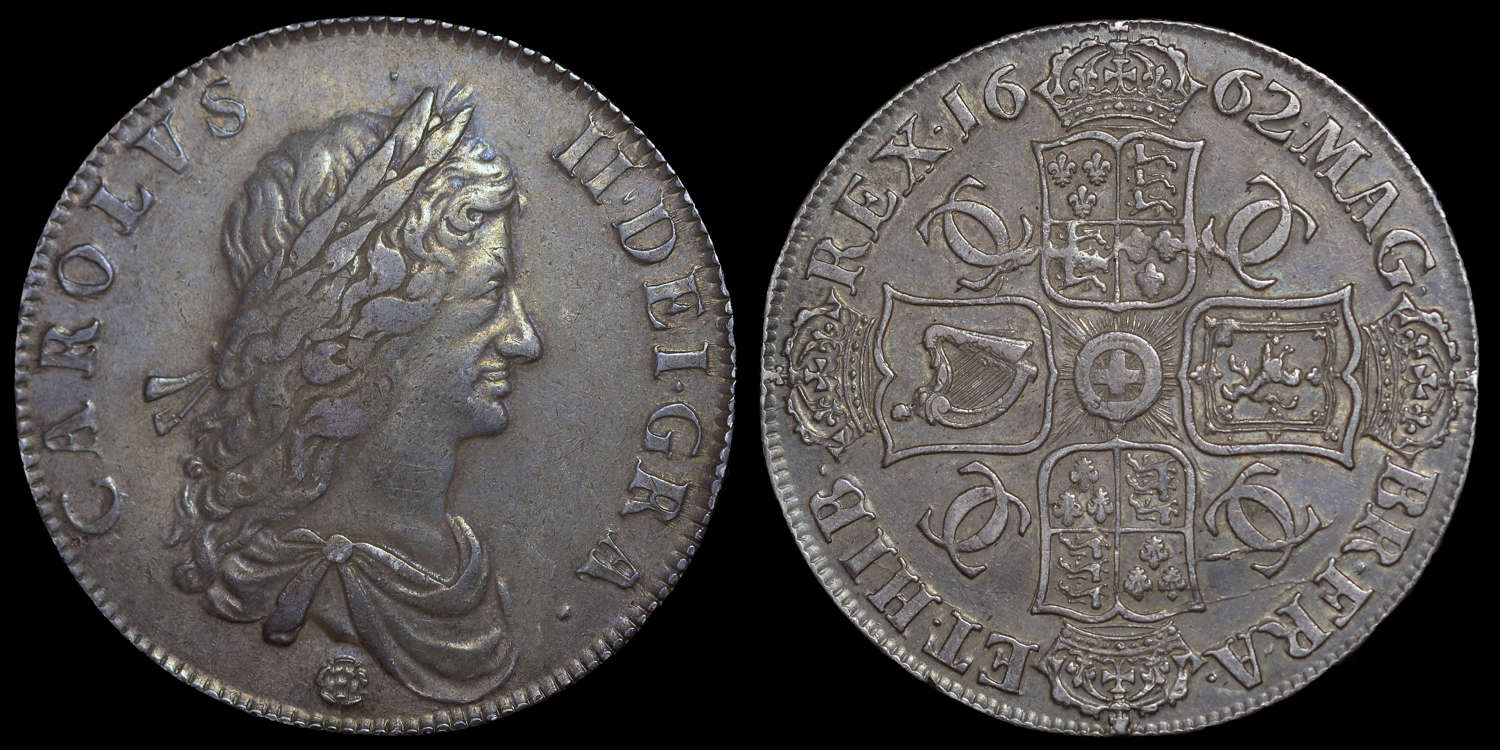CHARLES II 1662 CROWN