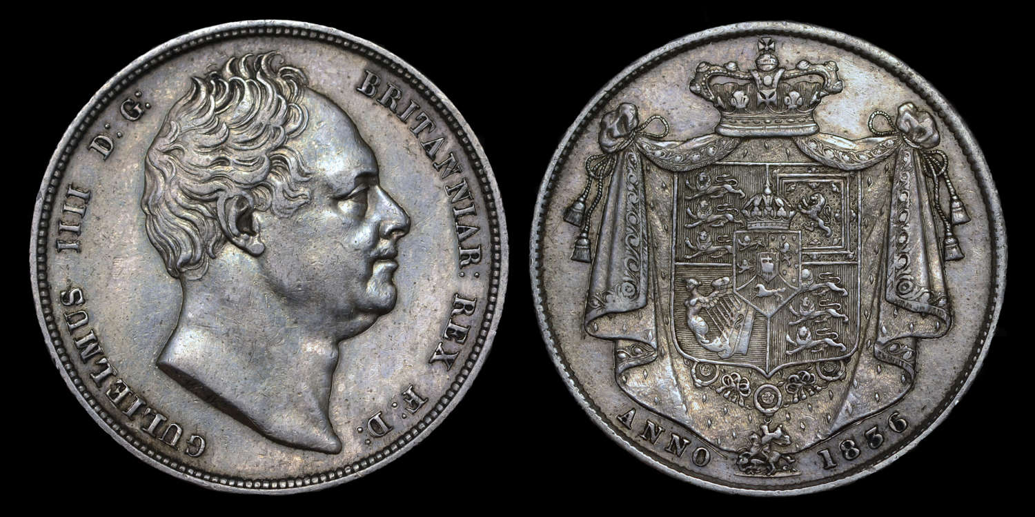 WILLIAM IV, 1836 HALF-CROWN