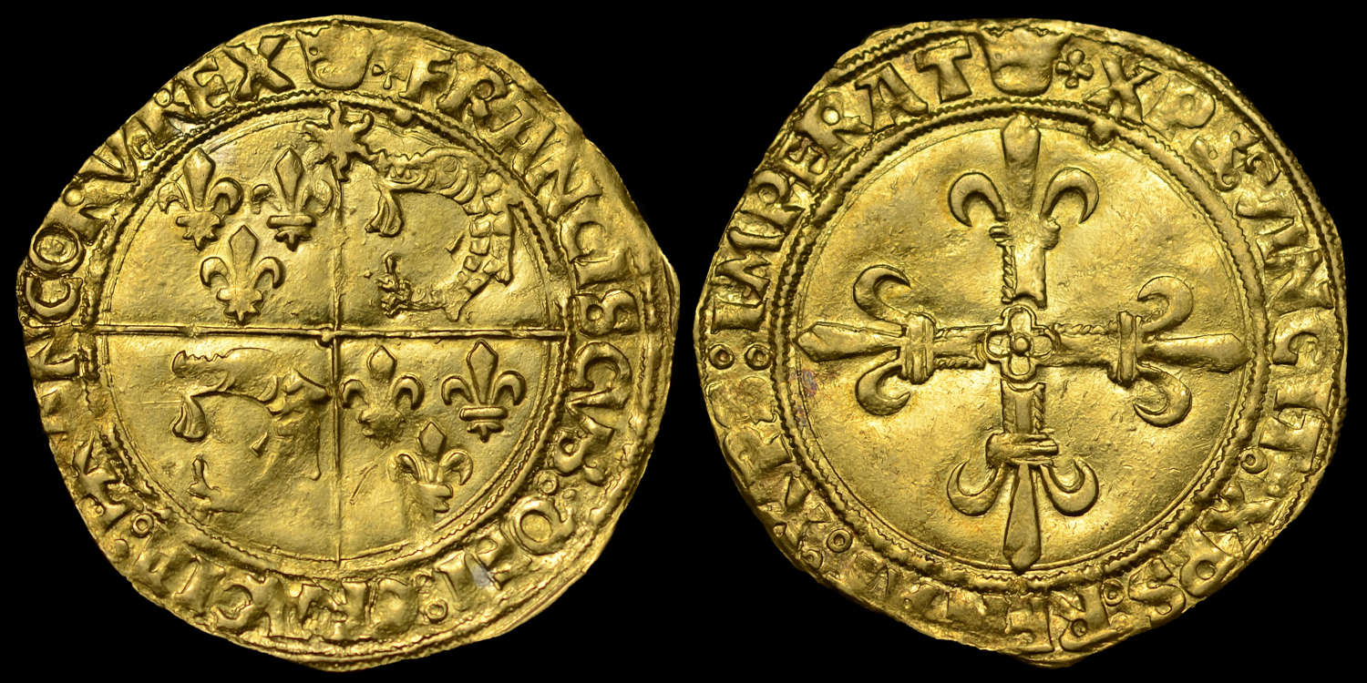 FRANCE, Ecu d'or du Dauphine, FRANCOIS I