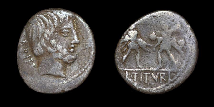 ROMAN REPUBLICAN COINAGE, L. TITURIUS L.F. SABINUS, DENARIUS