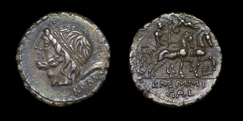 ROMAN REPUBLICAN COINAGE, L. MEMMIUS GALERIA, DENARIUS